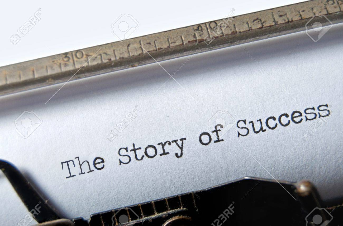 The Story of Success on an old typewriter Stock Photo - 11633956