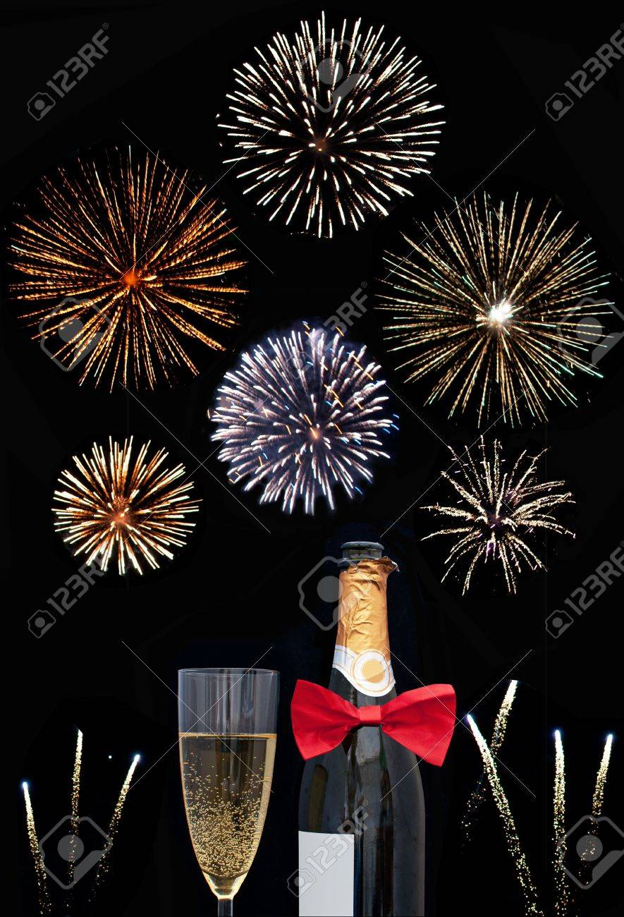 Fireworks and champagne Stock Photo - 16720384