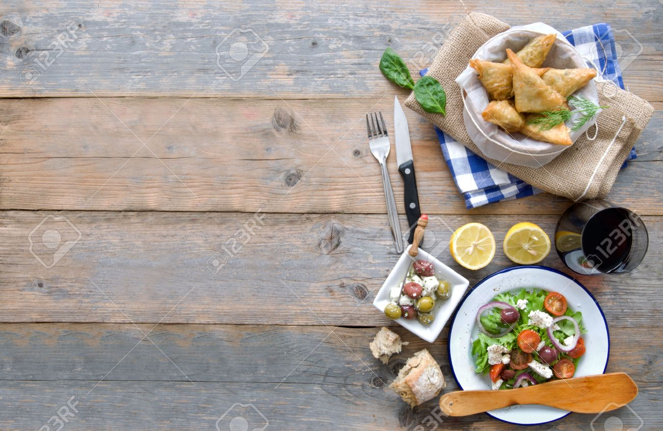 Food Background greek food background stock photo, picture and royalty free image