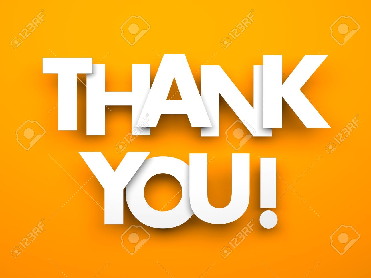 thank you words on a orange background stock photo picture and