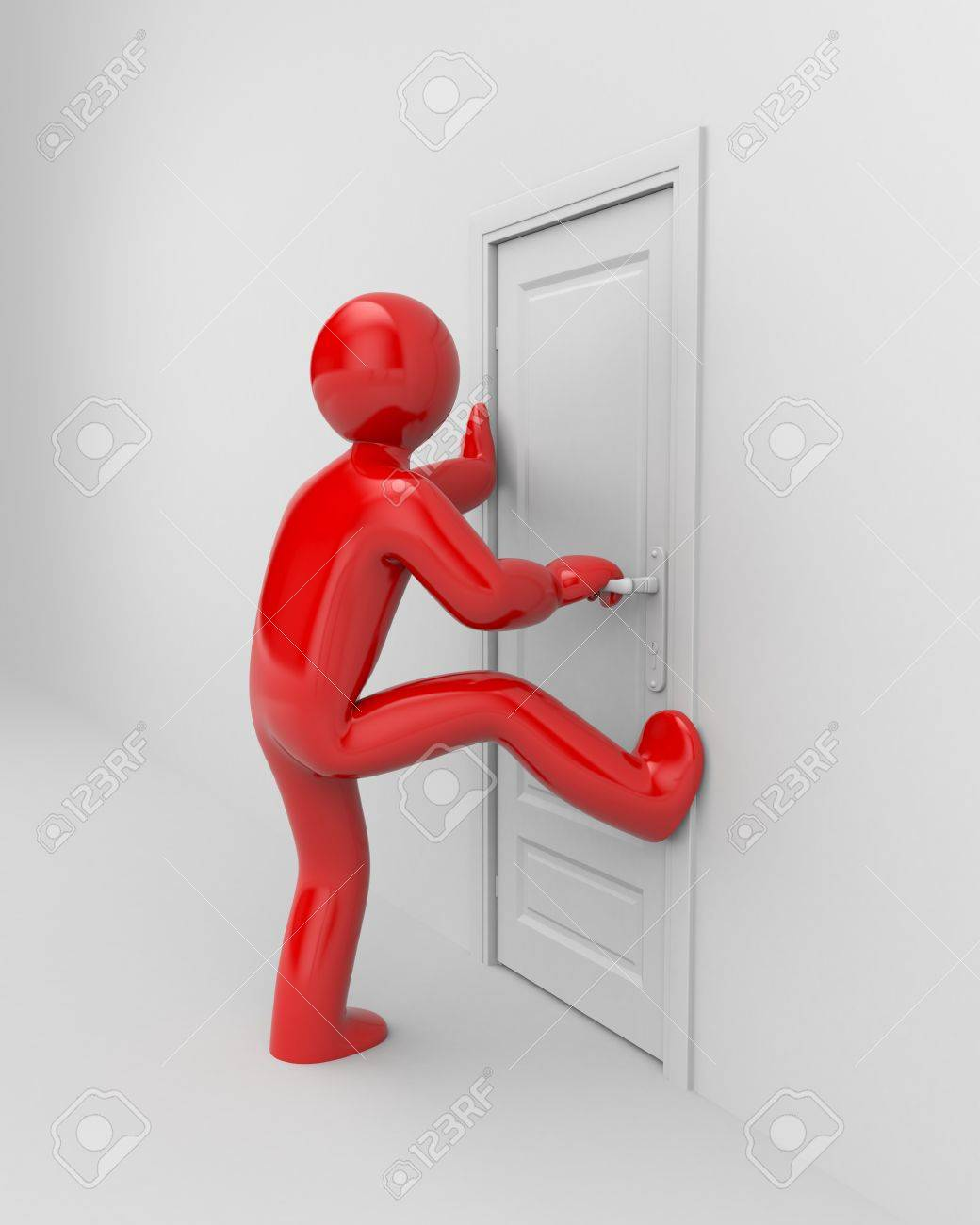 People trying to break into the door Stock Photo - 51734443 & People Trying To Break Into The Door Stock Photo Picture And ...