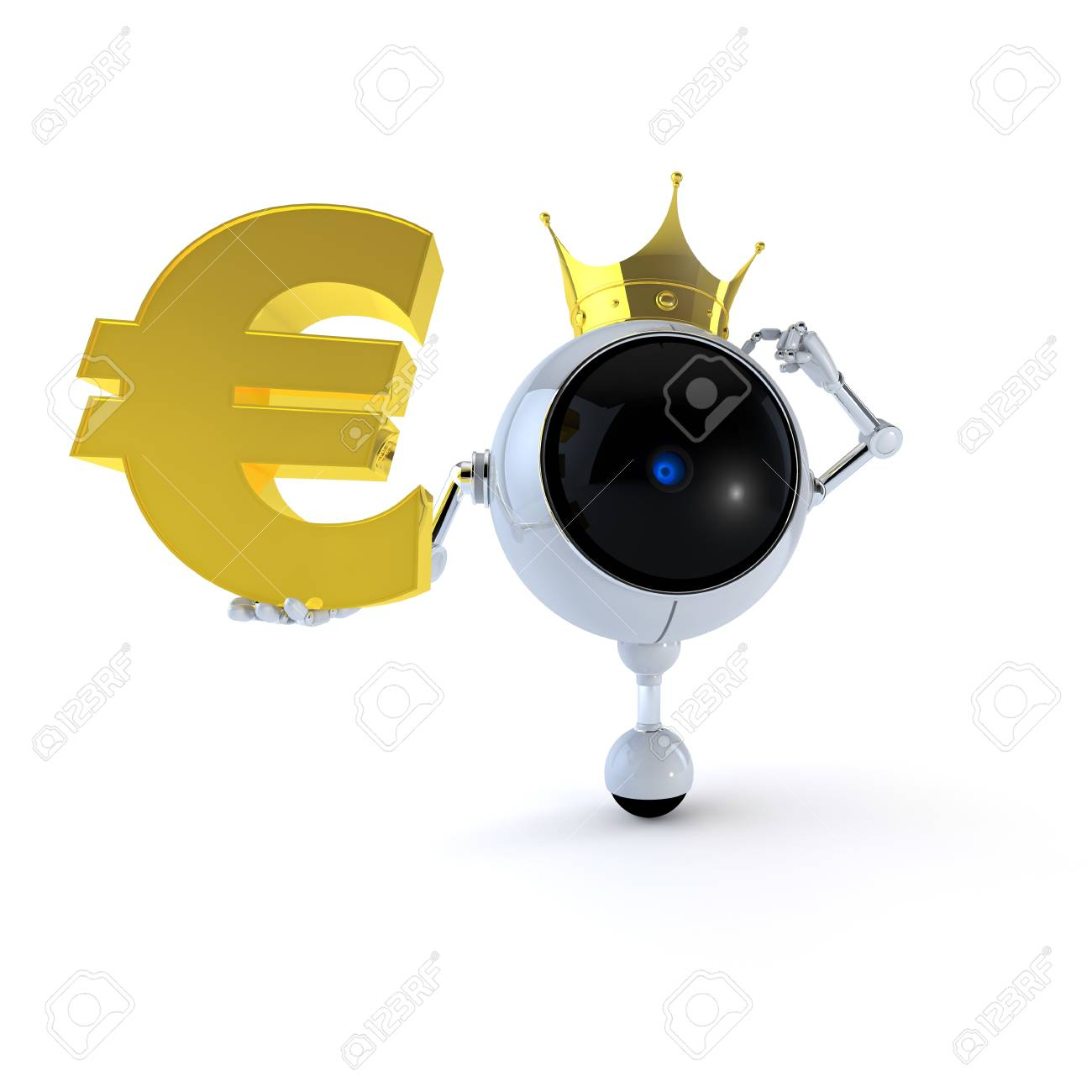 Robot with Signs Stock Photo - 14910078