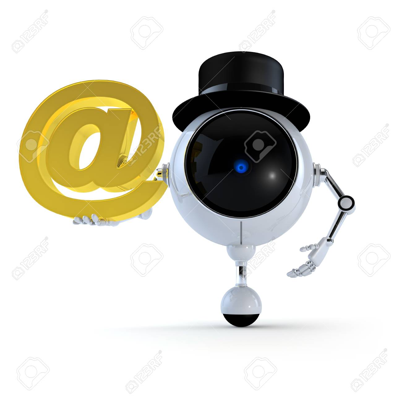Robot with Signs Stock Photo - 15315910