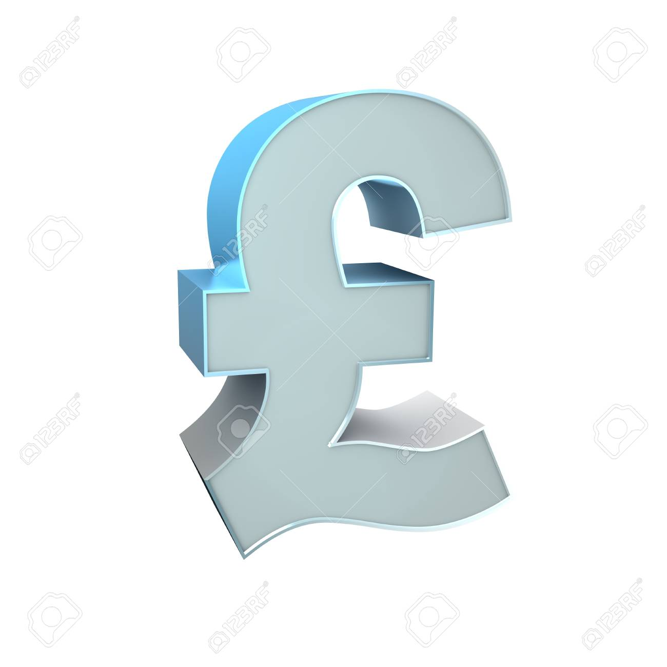 3d Silver Sign Pound Stock Photo - 16815450