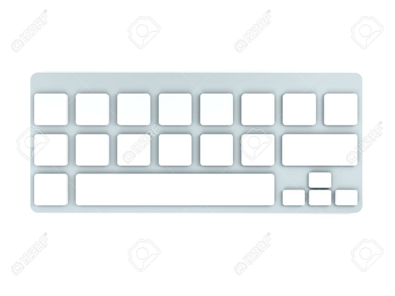 3D Computer Keyboard Device Different Angle Rendering Stock Photo - 17073935