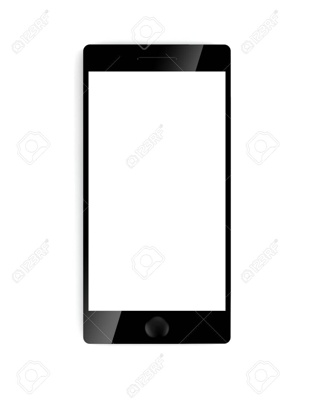 3D illustration of electronic Phone devices isolated on white Stock Illustration - 17671187