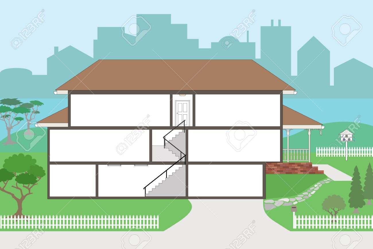 House outline with rooms - Window Doll Large Cutaway House Ready To Decorate Please See My Portfolio For The