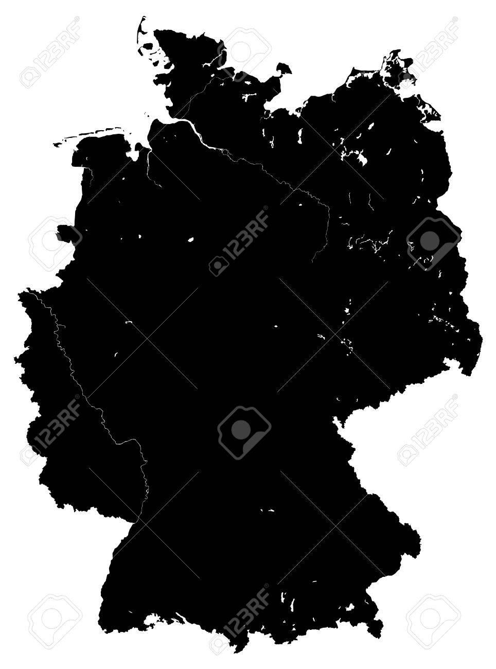 landkarte deutschland schwarz weiß Deutschland Karte Vektor Schwarz Weiß Lizenzfrei Nutzbare
