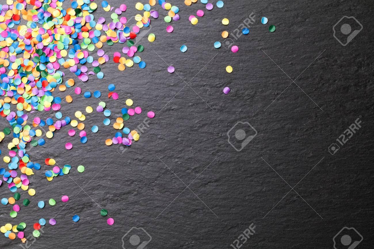 colorful confetti blackboard background - 52826657