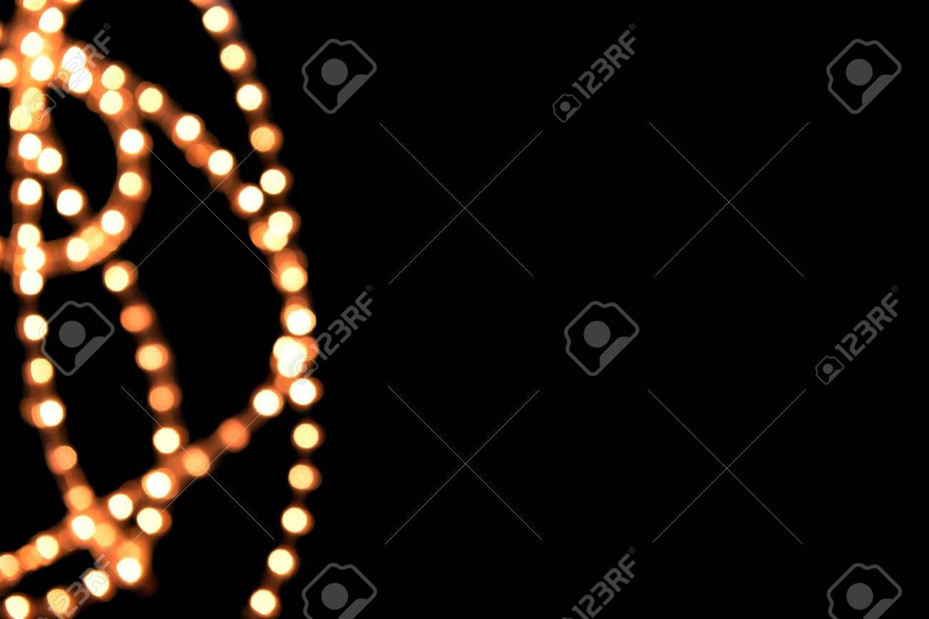 Lights on black background Stock Photo - 17109228