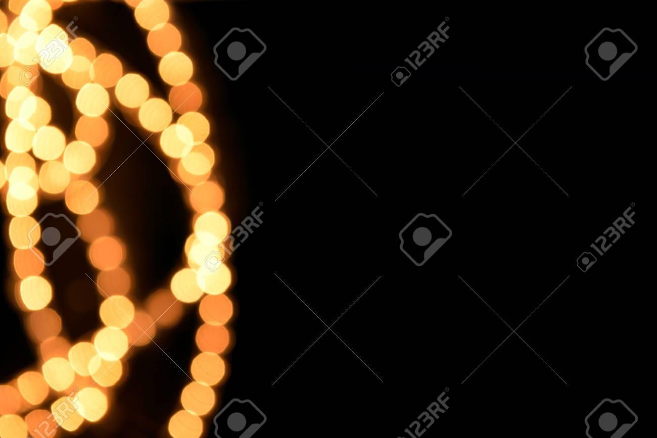 Lights on black background Stock Photo - 17109233