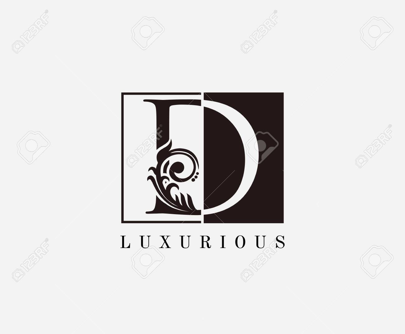 Vintage D Letter Classic Logo Black And White D With Classy Royalty Free Cliparts Vectors And Stock Illustration Image 143667084
