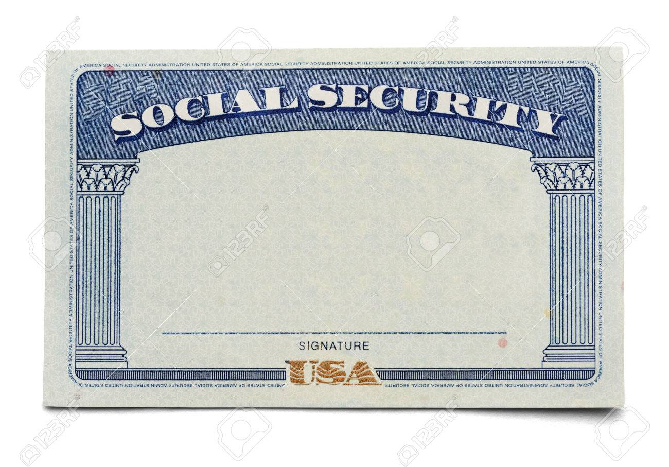 Blank Isolated On A White Security Free Image Royalty Photo 38260328 Image Background And Picture Social Stock Card