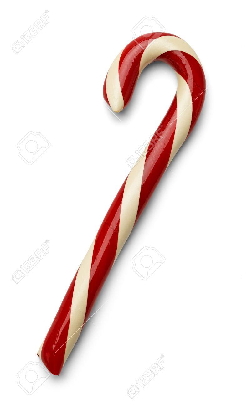 15 Rote und weiße Weihnachten Candycane Isoliert auf weißem Hintergrund.