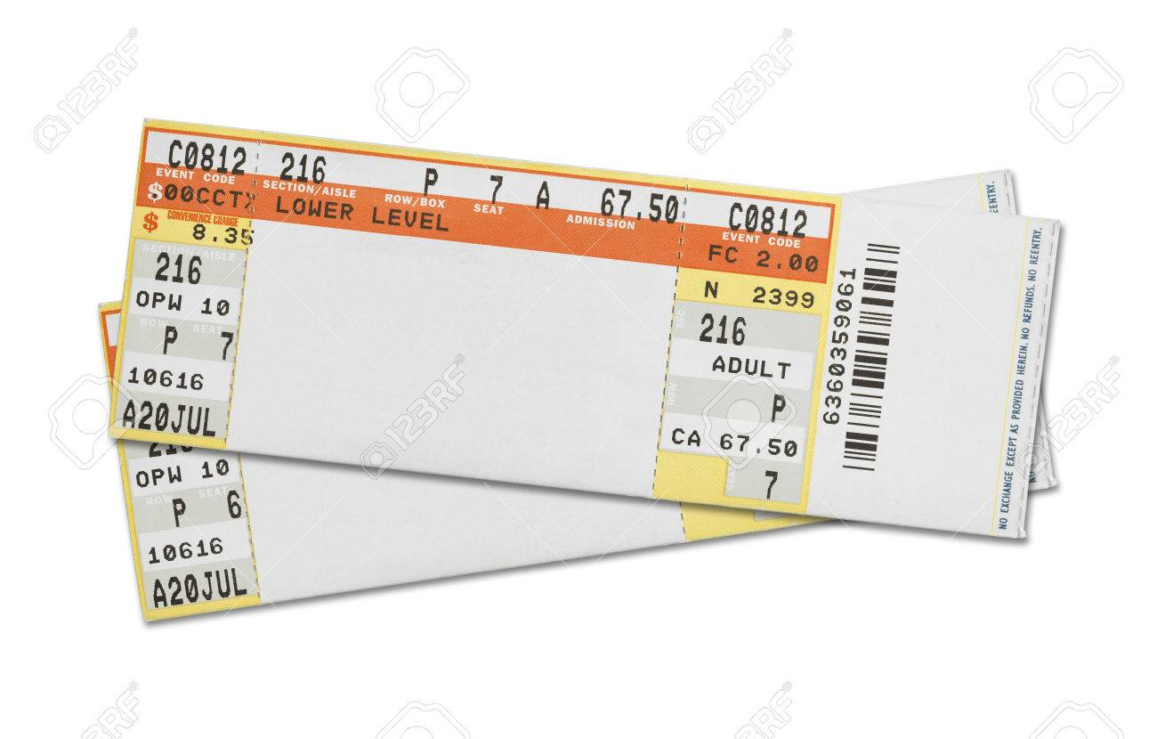 Superb Concert Ticket Stock Photos Royalty Free Concert Ticket Images 38260185  Pair Of Blank Concert Tickets Isolated