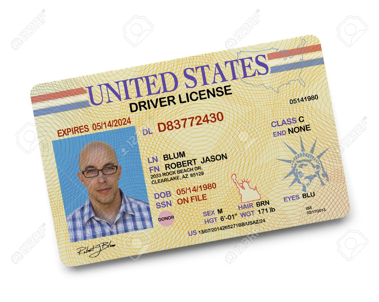 License Free 38258487 Isolated Background Driver On And Stock Image White Picture Us Photo Image Royalty
