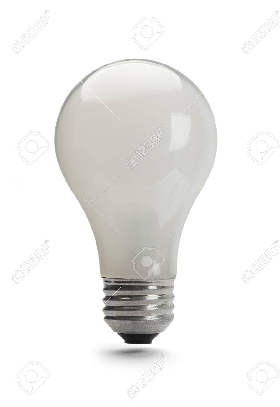 100 Watt Light Bulb Off Isolated On White Background Stock Photo
