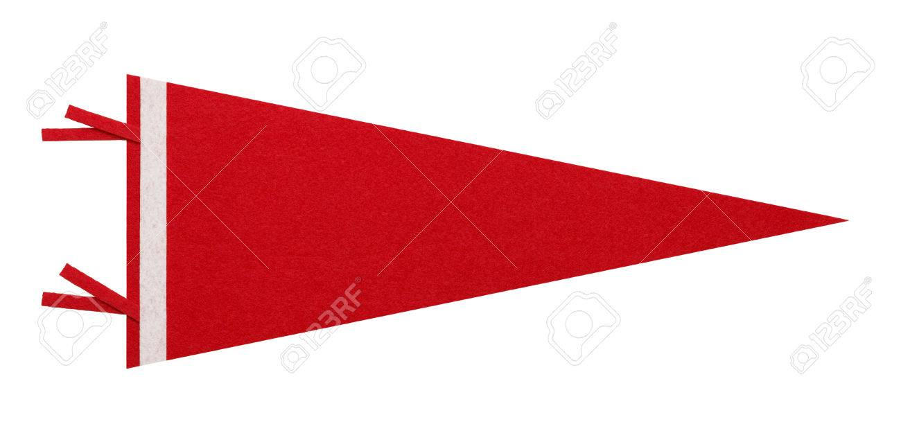 Felt Penant with Copy Space Isolated on White Background. - 38384608