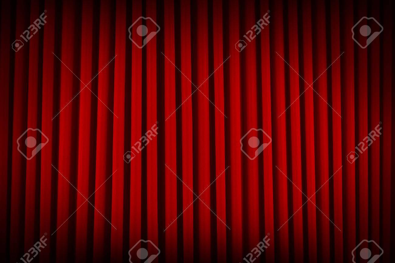 Red Velvet Movie Theater Curtains Dim Lit Background. Stock Photo ... for Velvet Curtains Background  588gtk