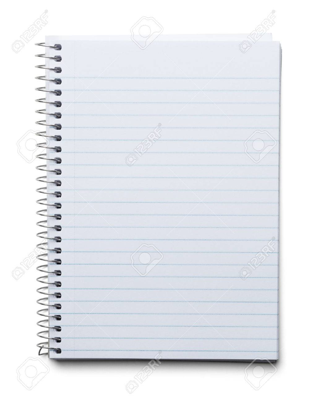 Blank Spiral Notebook With Line Paper Isolated On A White – Blank Line Paper