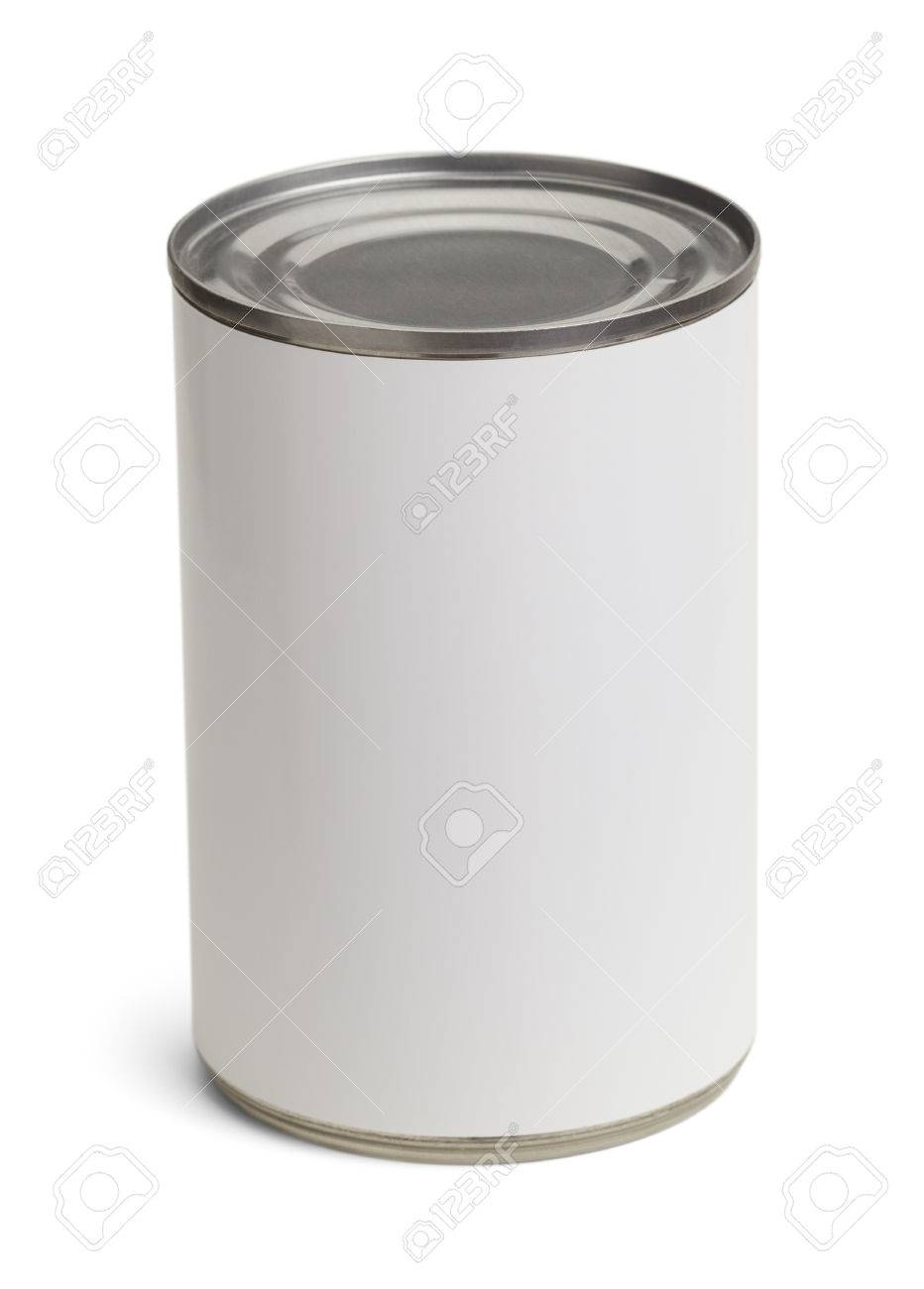 Generic Tin Can with Copy Space Isolated on a White Background. - 38386461