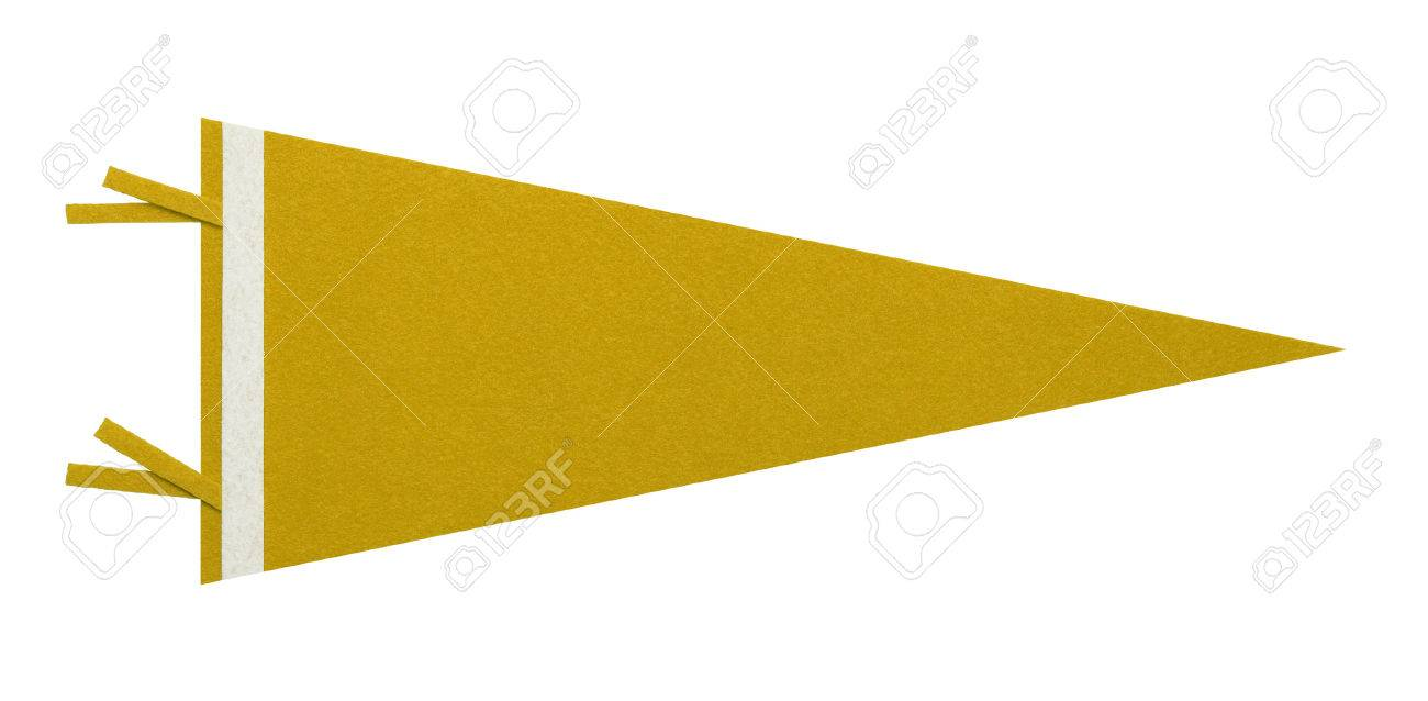 Felt Penant with Copy Space Isolated on White Background. - 38386726