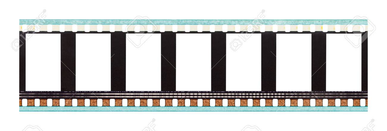 Film Strip with Copy Space Isolated on White Background. - 45302990