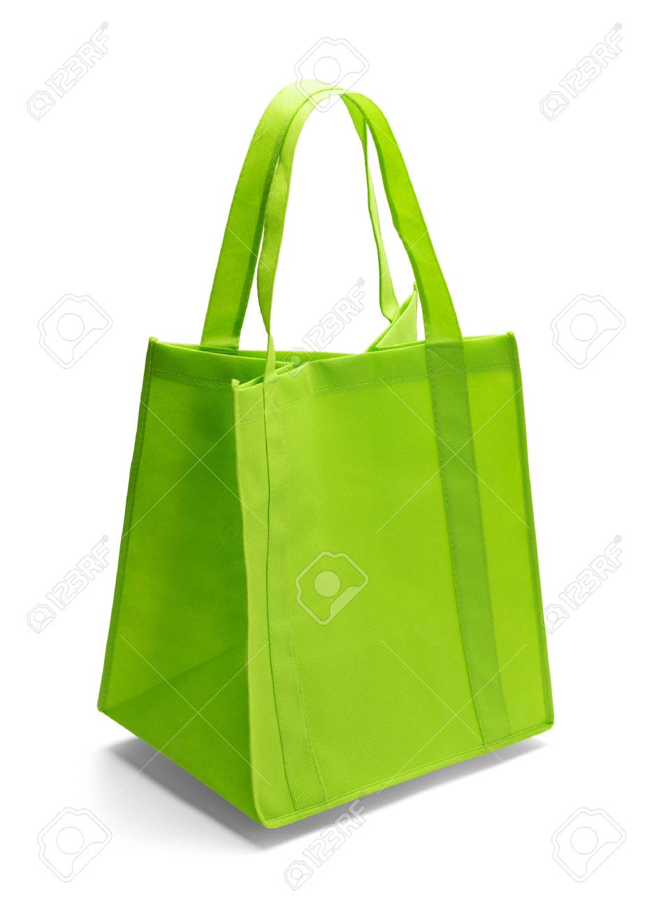 Green Fabric Shopping Bag Isolated On A White Background Stock Photo Picture And Royalty Free Image Image 51202564