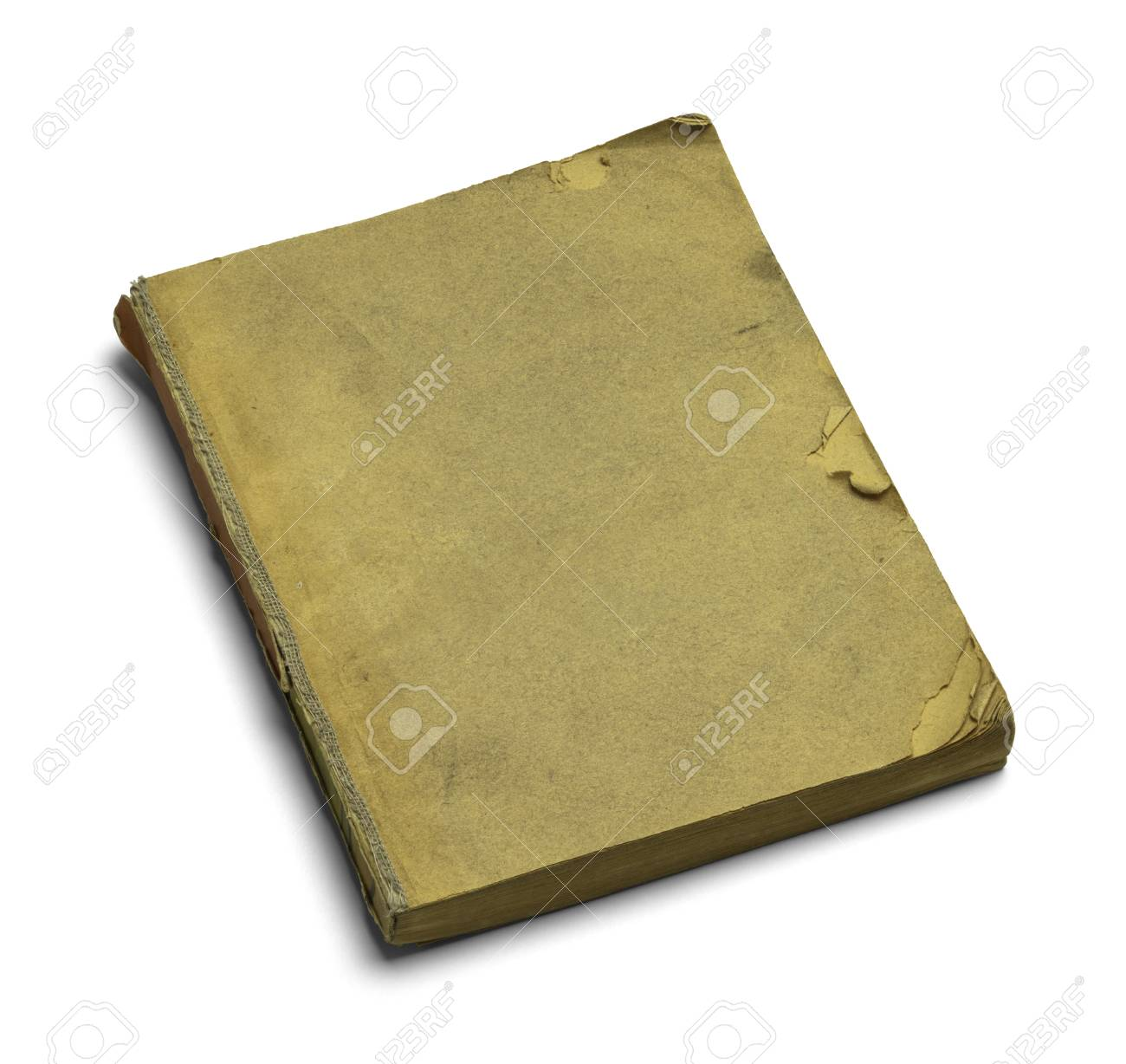 Old Brown Livre Ferme Et Use Isole Sur Fond Blanc