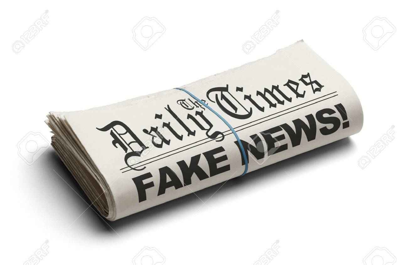 Fake News in The Daily Times Isolated on White Background. - 70003726