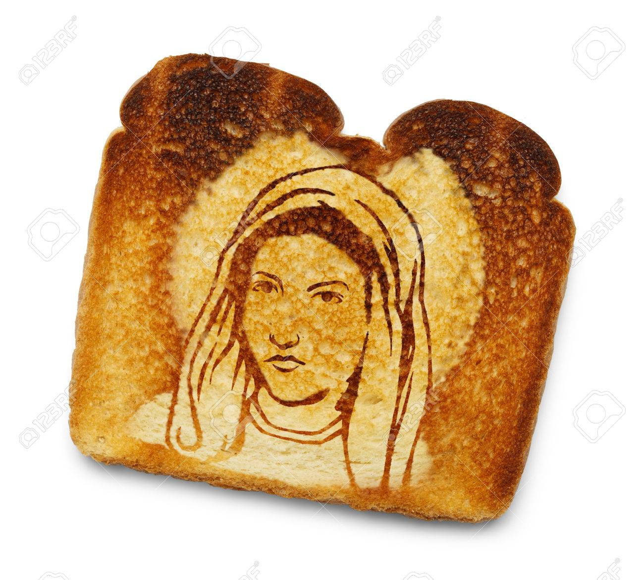 Image result for image of mary in burnt toast