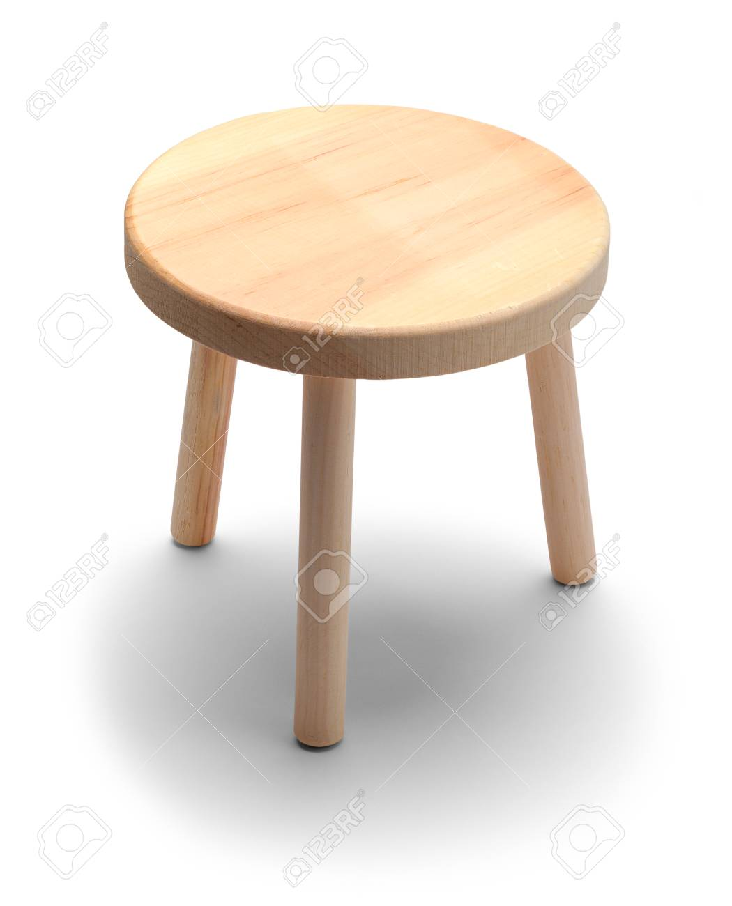 Fine Small Round Foot Stool Isolated On A White Background Beatyapartments Chair Design Images Beatyapartmentscom