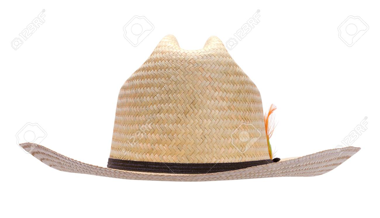 Stock Photo - Woven Cowboy Hat Front View Cut Out on White. a853de87699