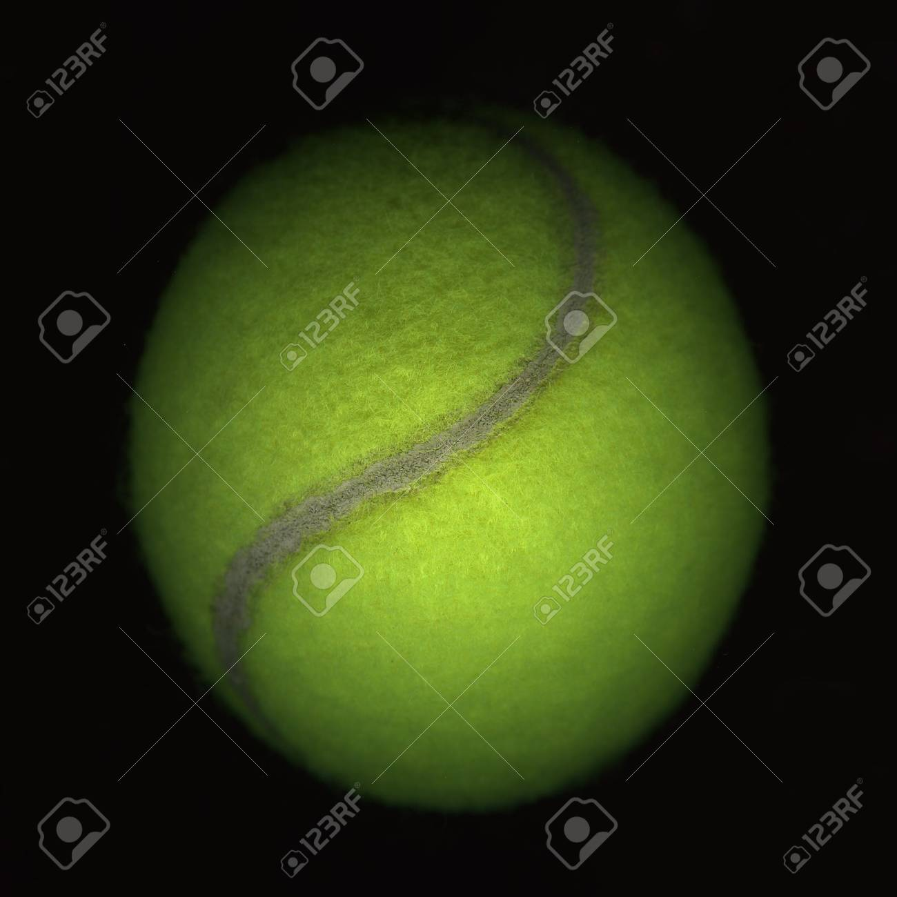 tennis ball on black - abstract image from a flatbed scanner Stock Photo - 2336927