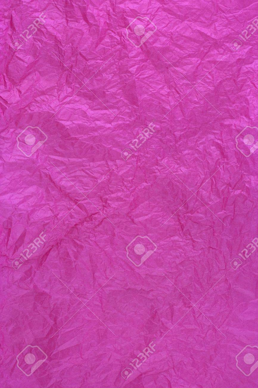 dark pink tissue wrapping paper texture, crumpled and wrinkled Stock Photo - 4716884