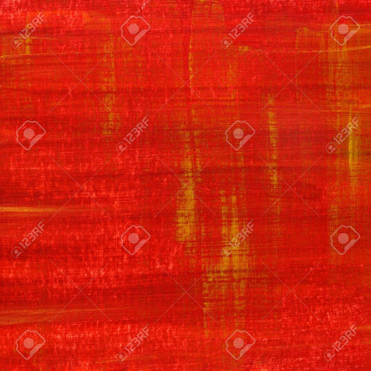 Red Hand Painted Watercolor Abstract Witch Scratch Texture Self Made Stock Photo