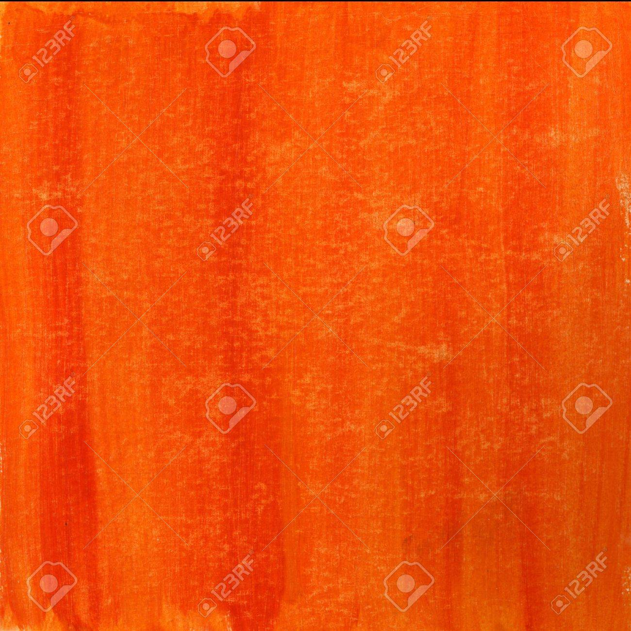Red Orange Hand Painted Watercolor Abstract Witch Scratch Texture Self Made Stock Photo
