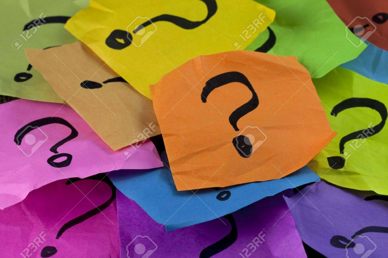 questions decision making or uncertainty concept a pile of stock photo questions decision making or uncertainty concept a pile of colorful crumpled sticky notes question marks