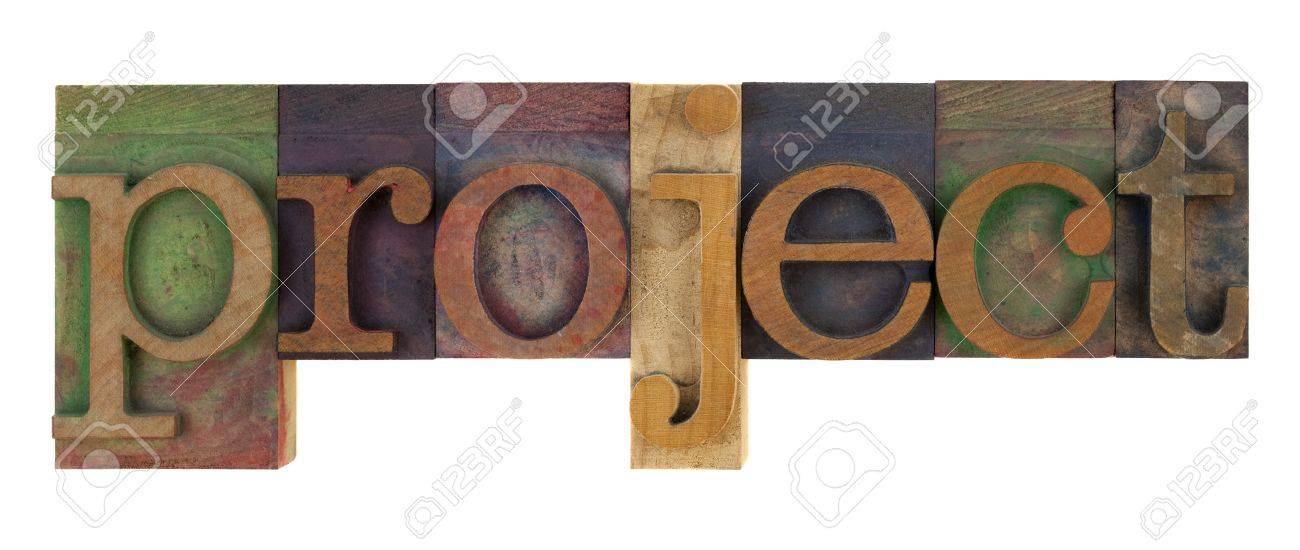 The Word Project In Vintage Letterpress Type Blocks, Stained ...