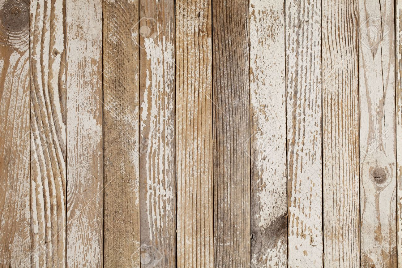 Grunge Wood Background With Old White Paint Stock Photo Picture