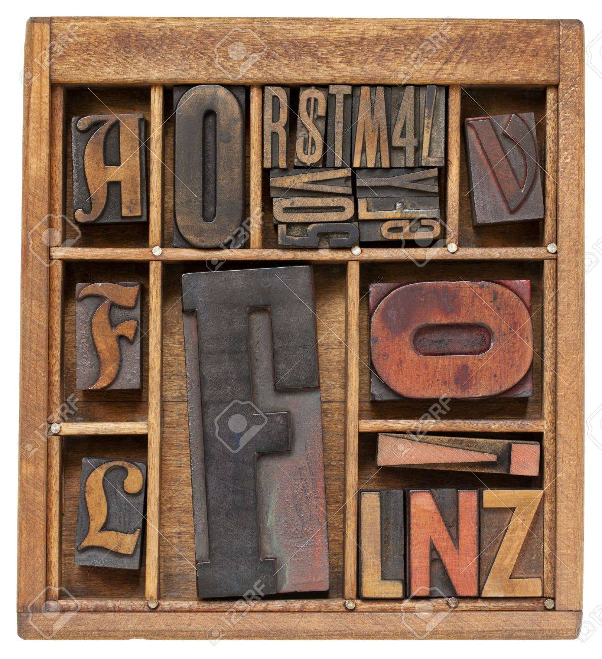 antique letterpress printing blocks Stock Photo - 10226871