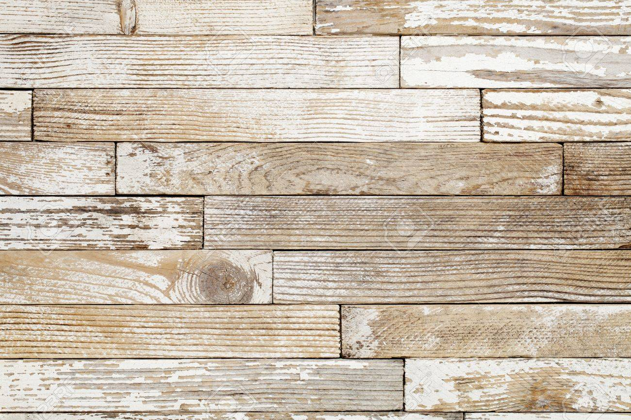 grunge wood background with old white painted planks - 10493250