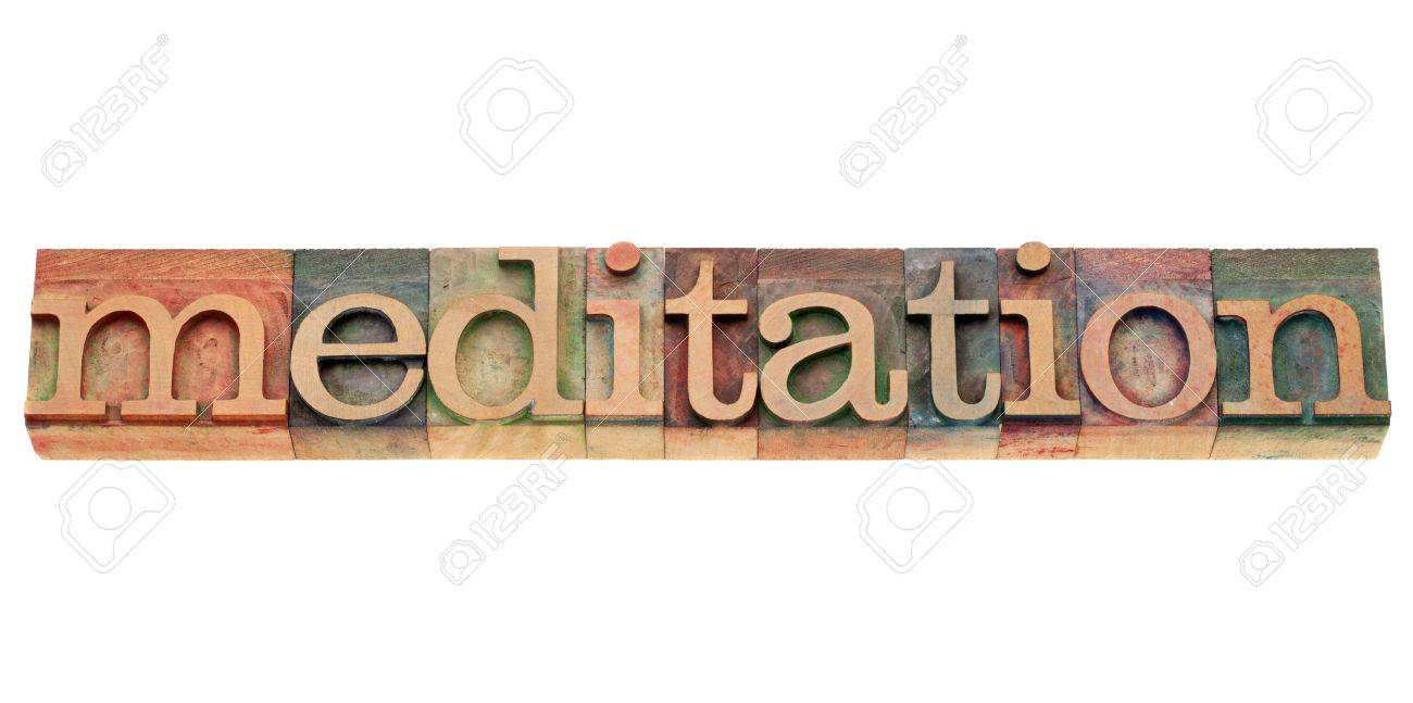 Meditation Text Meditation Isolated Text in