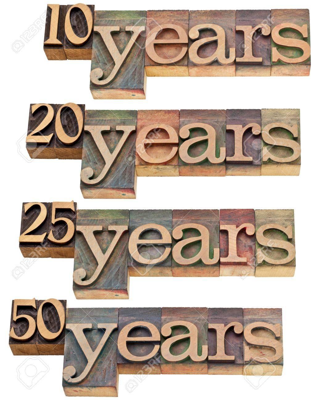 Verjaardag Concept 10 20 25 50 Jaar Geisoleerde Tekst In