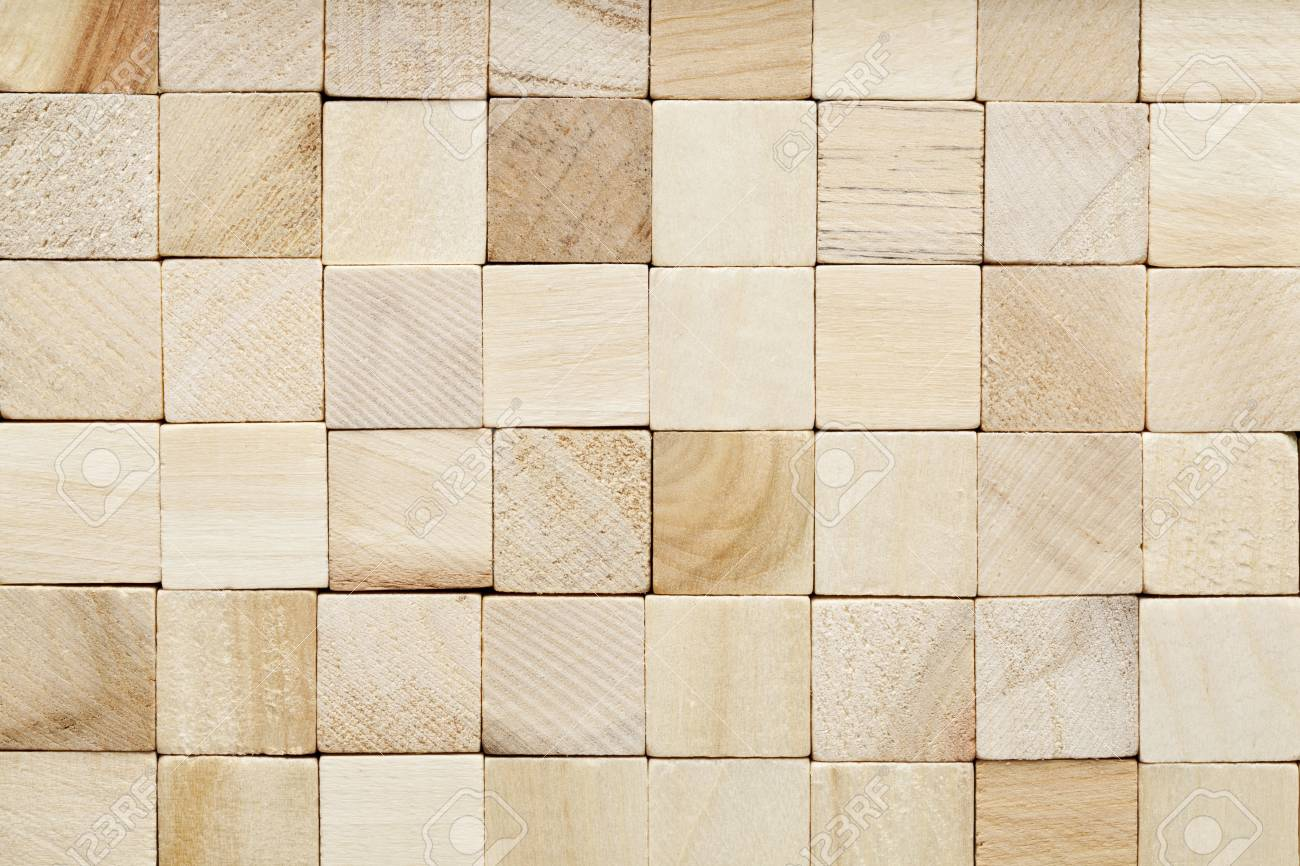 background of random wood square blocks with different grain Stock Photo - 12114955