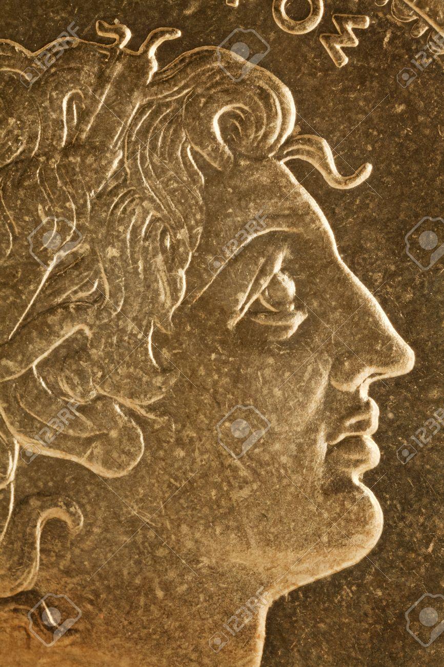 Alexander Der Große Profil Portrait Griechischer König Von
