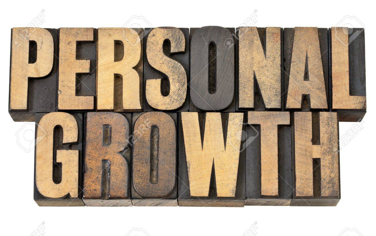 personal growth - self development concept - isolated text in vintage letterpress wood type Stock Photo - 13671342