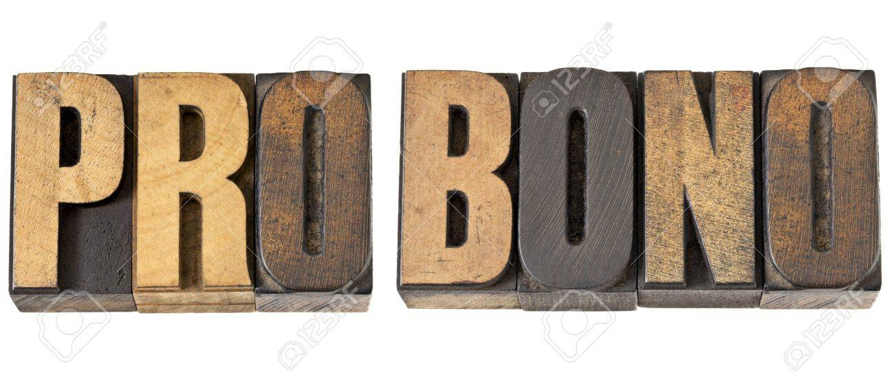 pro bono - free service concept -isolated text in vintage letterpress wood type Stock Photo - 14167362