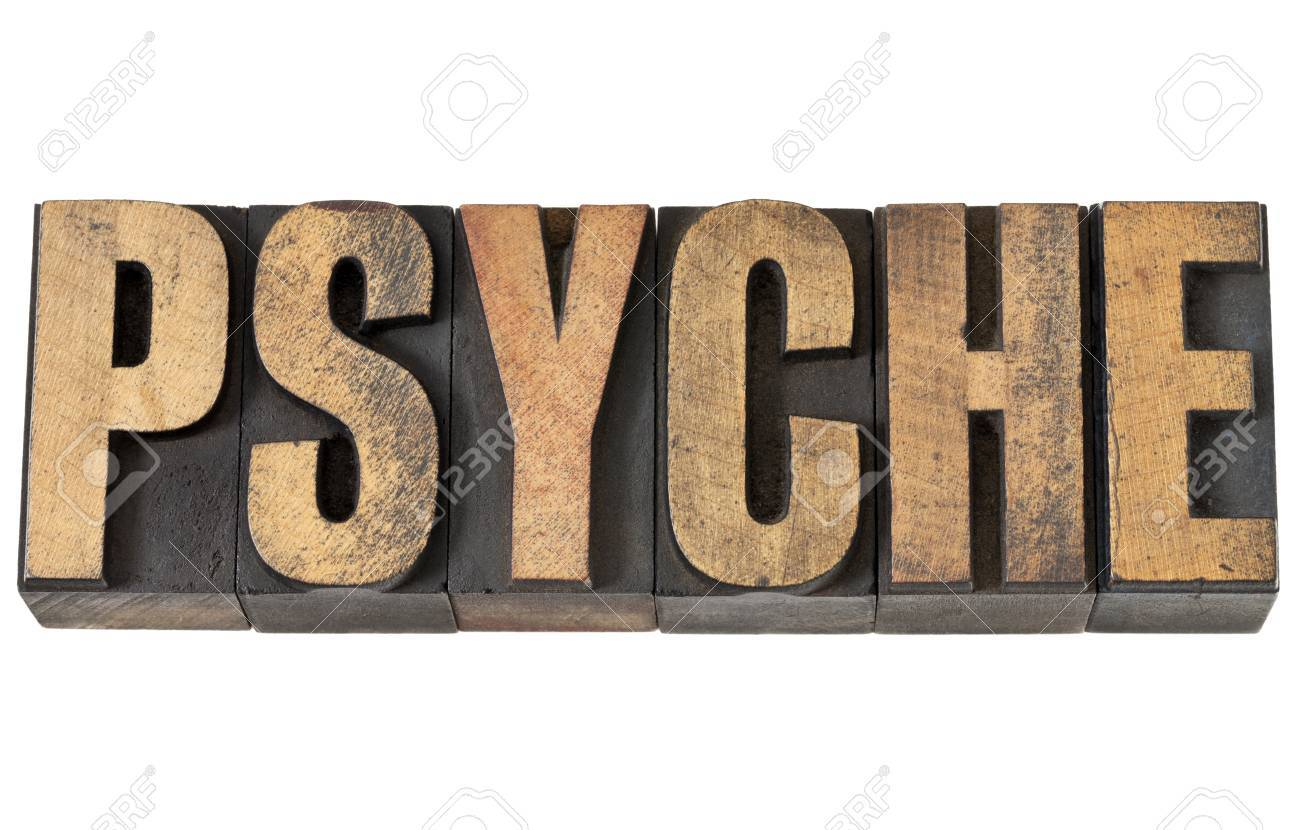 psyche - isolated text in vintage letterpress wood type Stock Photo - 14167358