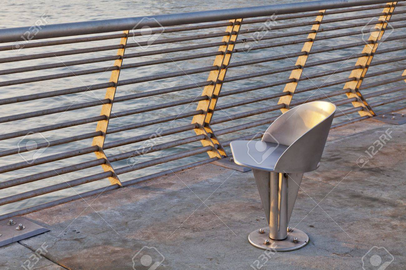 Strange Modern Outdoor Metal Swivel Chair At Sunrise San Francisco Pabps2019 Chair Design Images Pabps2019Com